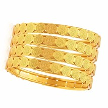Indian Gold Plated Fashion Bangles 2.8'' Ethnic Bollywood Bridal Wedding Jewelry - $24.60