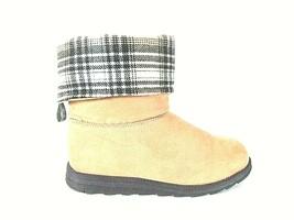 Muk Luks Tan Suede Like Slip On Side Zip High Ankle Boots Women's 9 (SW18) - $77.99