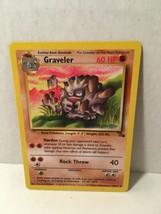 Graveler 37/62 Pokemon Card TCG Uncommon Original Fossil Set NM Great Co... - $2.44