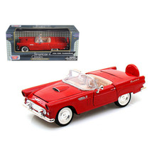 1956 Ford Thunderbird Convertible Red 1/24 Diecast Model Car by Motormax 7321... - $35.63