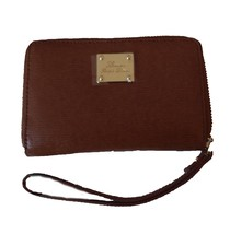 Lauren Ralph Lauren Woman's Leather Zip-Around Tech Wristlet/Wallet - $88.78