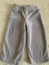 Carters Boys Gray Fleece Pants 18 Months - $4.00