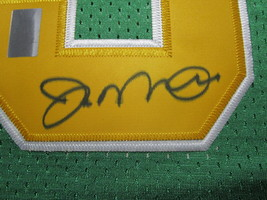 JOE MONTANA / AUTOGRAPHED NOTRE DAME GREEN & GOLD THROWBACK JERSEY / PLAYER HOLO image 4