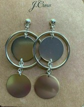 NWT J.Crew %Authentic Silver Double Disc Drop Earrings - $27.99