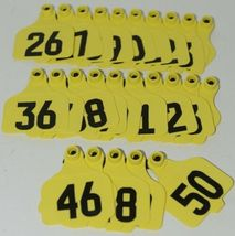 Destron Fearing DuFlex Visual ID Livestock Panel Tags Yellow LG 25 Sets 26 to 50 image 5
