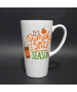 Its Pumpkin Spice Season Ceramic Travel Mug with Lid 13 Ounce Coffee Tea... - $13.95