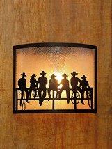 Cowboy metal wall Lamp Shade Brass Indian Handmade Au30 - $45.54