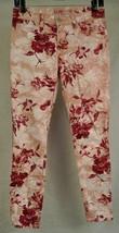 J Brand 835 Capri Floral Print Skinny Twill Twisted Pink Seashell 27 USA Womens - $44.47