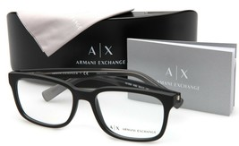 NEW ARMANI EXCHANGE AX 3029 8182 BLACK EYEGLASSES FRAME 54-17-140mm - $64.34