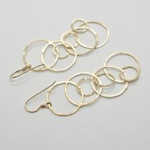 Drop Earrings 925 Silver Foil & Gold Circles by Mary Jane Ielpo Made in Italy image 5