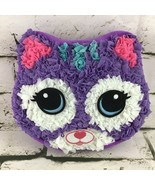 Kitty Cat Completed Crafting Pillow Bedroom Decor Stuffed Animal Purple ... - $9.89