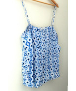 NWT Rory Beca Gorgeous 100% Silk Blouse Blue White Hammond Camisole Top ... - $29.40