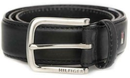 Tommy Hilfiger Men's Premium 35MM Leather Casual Belt Black 11TL02X038 image 2