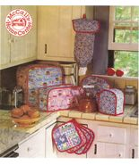 Kitchen Appliance Covers Seat Cushions Valance Curtains Placemat Sew Pat... - $11.99