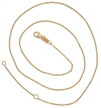 18K ROSE GOLD CHAIN, 1.0 MM ROLO ROUND CIRCLE LINK, 19.7 INCHES, MADE IN ITALY image 2