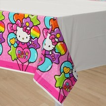 Hello Kitty Rainbow Plastic Table Cover Birthday Party Supplies 1 Per Pa... - $7.87