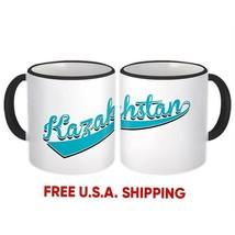 Kazakhstan : Mug Flag Varsity Script Baseball Beisbol Country Pride Gift... - $13.37+