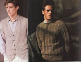 Vtg Vogue Mens Knits 25 Designs Tennis Sailing Ski Cricket Sweaters Patterns image 8