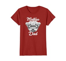Maltese Dog Dad Maltese Lovers Owner T Shirt - $19.99+