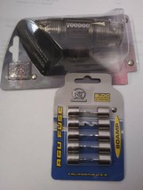Voodoo AGU inline 4 or 8 gauge Fuse Holder + (5) 80 amp AGU fuses image 2