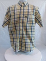 Ivy Crew Explorer Men's Oxford Casual Shirt Short Sleeve Checked Size Sm... - $10.43