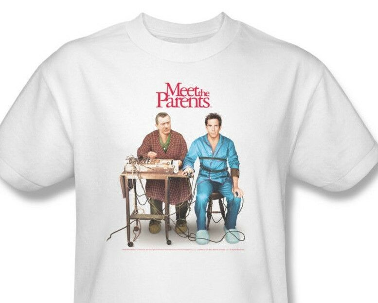Meet the Parents T-shirt movie poster Fokers 100% cotton white tee UNI427