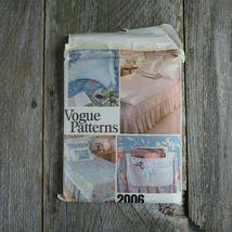 Vintage Vogue Bedspread Linen Sewing Pattern Bedroom Sham Pillow Bed Covers image 7
