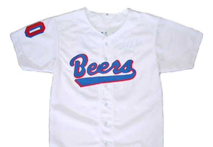 Custom name and   baseketball beers baseball jersey button down white 1
