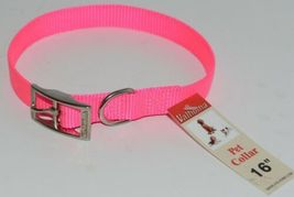 Valhoma 730 16 HP Dog Collar Hot Pink Single Layer Nylon 16 inches Package 1 image 4