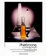 Pheromone Perfume Ad Marilyn Miglin 1986 Bottle Art Photo Ad - $14.99