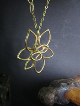 Oro Collar 14k Oro Amarillo Collar Handmade Hermoso Diseño Único Cadena - $1,544.78