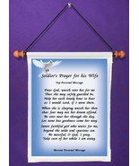 Soldier's Prayer for His Wife - Personalized Wall Hanging (573-1) - $18.99