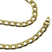 "SOLID 18K GOLD GOURMETTE CUBAN CURB LINKS CHAIN 4mm, 24"", STRONG BRIGHT NECKLACE image 4"