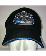 Ride Local Ride On Hat Biker Embroidered Baseball Cap Motorcycle Allstate - $11.75