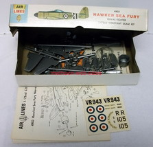 Air Lines~4903~1:72~Hawker Sea Fury~Royal Navy Fighter Plane~Model Kit~1964 - $14.00