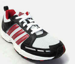 ADIDAS ADIRUN 2 US WHITE/BLACK/RED SHOES Sz 4.5Y(YOUTH) - $39.99