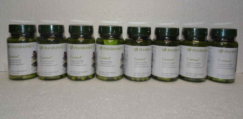 Eight pack: Nu Skin Nuskin Pharmanex Cortitrol 60 Capsules SEALED x8 - $340.00