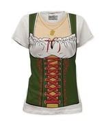 Oktoberfest Deutsche Gretchen Bier Maid Fräulein Damen Kostüm T-Shirt S-2X - $20.88