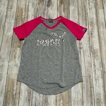 Puma Girls Active Gray & Pink Tee Shirt Top Size M (8-10) - $7.92