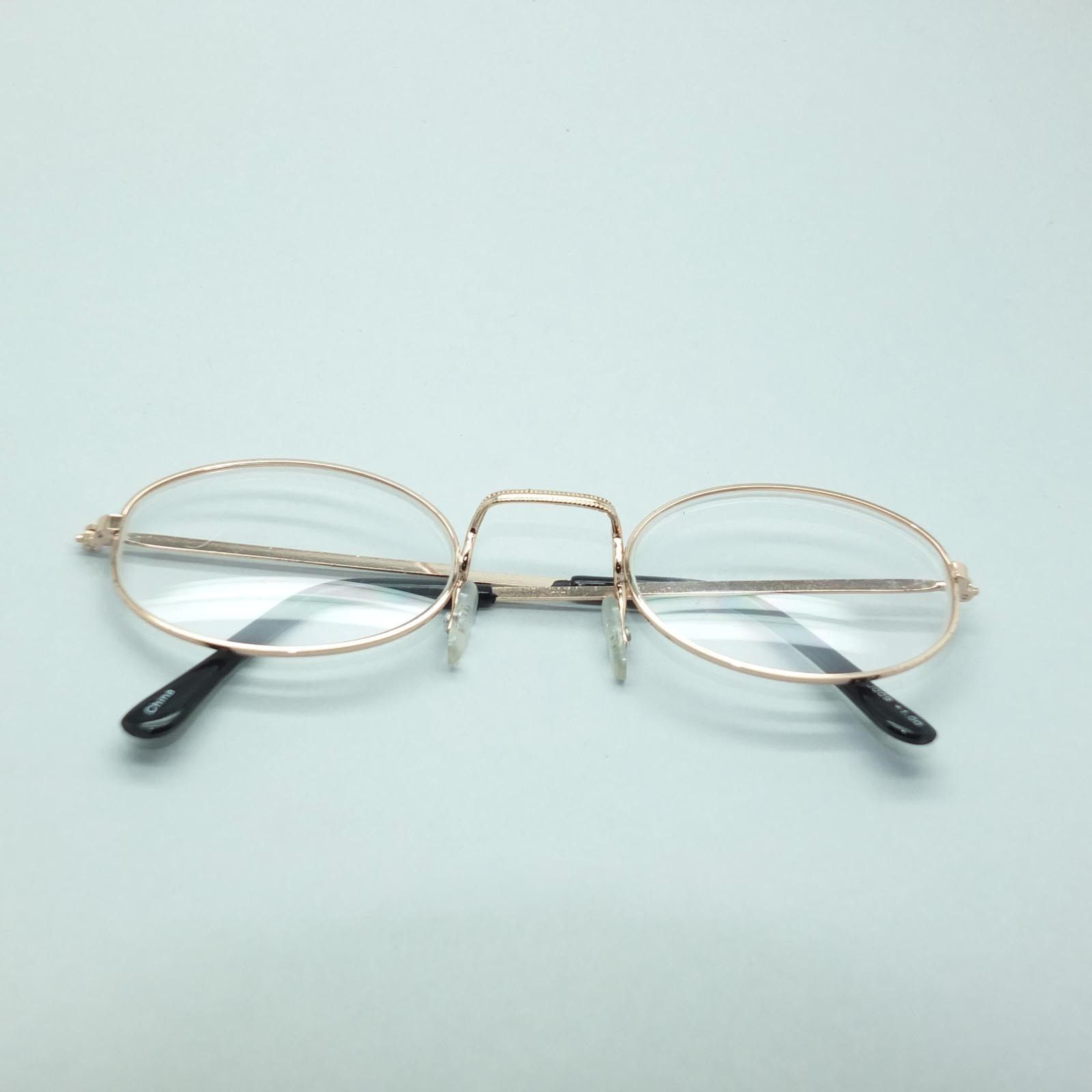 Simple Oval Gold Metal Wire Frame Square Bridge Reading Glasses +1.00 Lens image 4