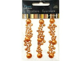 Mark Richards Pearl Cluster Stickers, Gold #5474