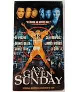 ANY GIVEN SUNDAY VHS Special Edition Director's Cut Al Pacino, NEW, SEALED! - $19.30