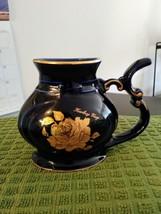 Carlsbad Karlovy Vary Cobalt Blue & Gold Porcelain Rose Mineral Water Sipping Dr image 1