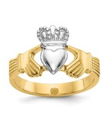 14K Two Tone Gold Claddagh Ring - $289.99