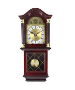 Bedford Clock Collection 26 Inch Chiming Pendulum Wall Clock in Antique ... - $137.65