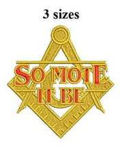 Masonic Compass So Mote It Be Digitized embroidery design Digital Download - $5.99