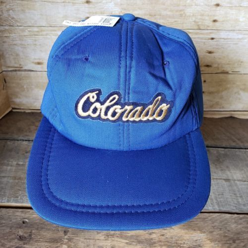 Vintage Colorado Trucker Hat Insulated Ski Ball Cap Snapback Aspen Denver Snow