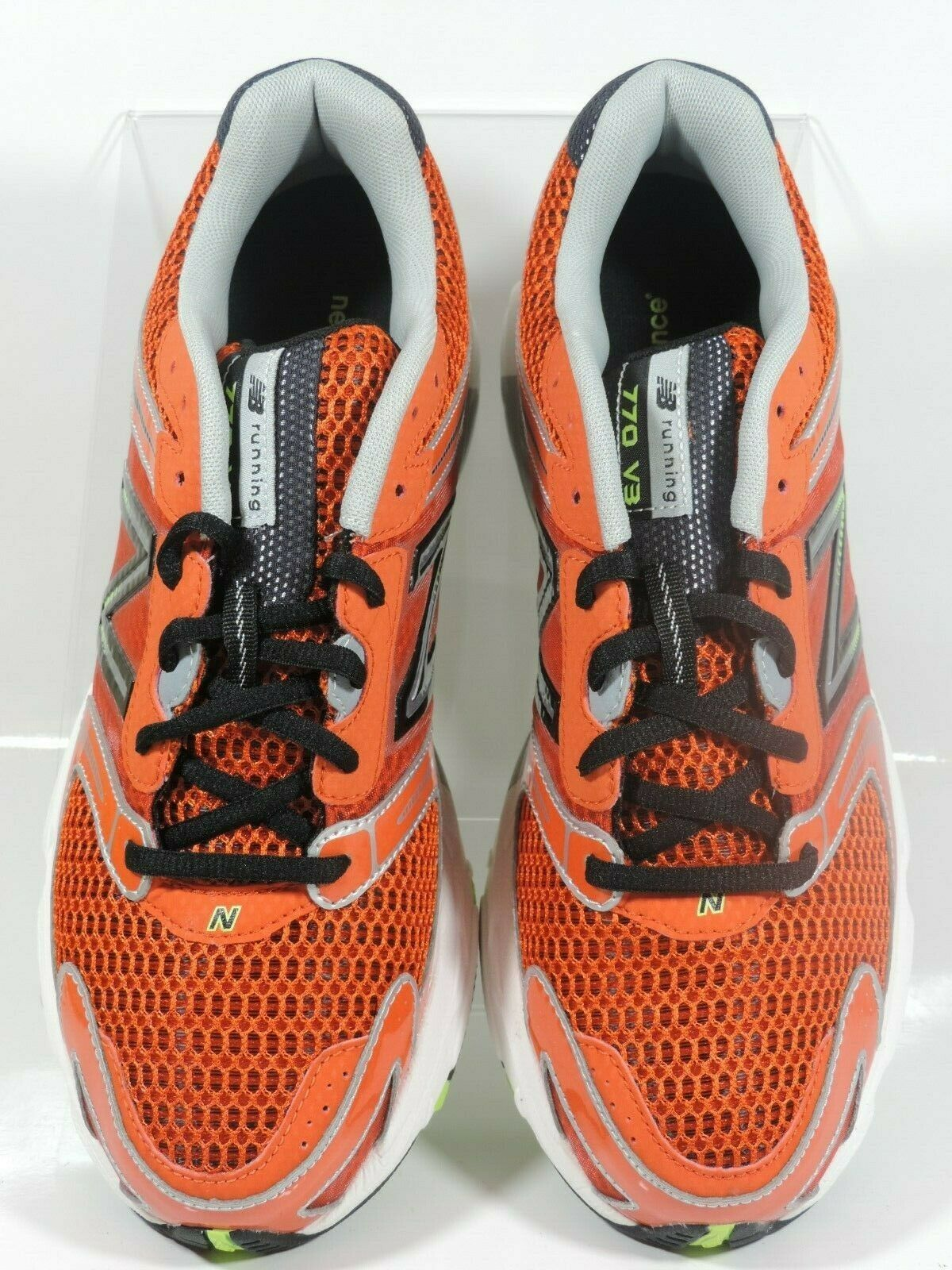 New Balance Men's Shoes M770CT3 Athletic Running Sneakers Red Black Mesh image 4