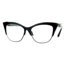 Vintage Retro Fashion Clear Lens Glasses Womens Half Rim Look Cateye - $10.95