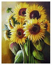 Sunflower Painting by Numbers for Adults DIY Oil Kits, - $15.45